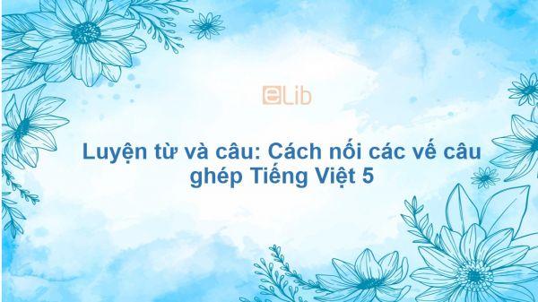 Luyện từ và câu: Cách nối các vế câu ghép Tiếng Việt 5