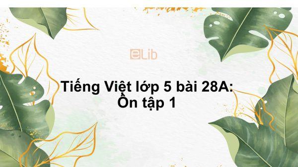 Tiếng Việt lớp 5 bài 28A: Ôn tập 1