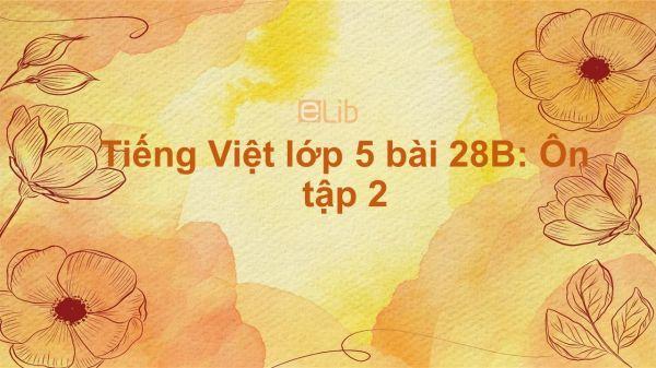 Tiếng Việt lớp 5 bài 28B: Ôn tập 2