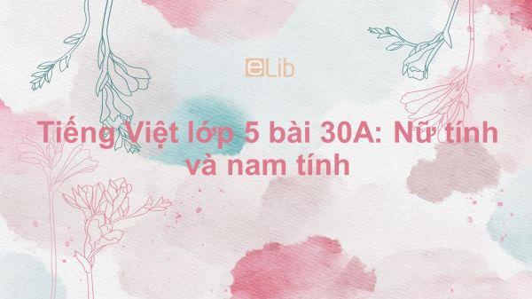 Tiếng Việt lớp 5 bài 30A: Nữ tính và nam tính