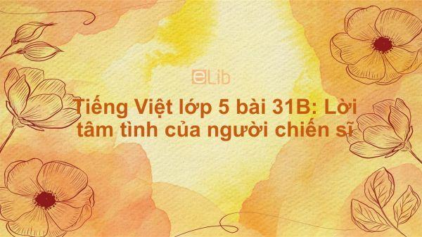 Tiếng Việt lớp 5 bài 31B: Lời tâm tình của người chiến sĩ