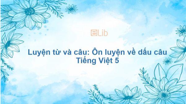 Luyện từ và câu: Ôn luyện về dấu câu Tiếng Việt 5