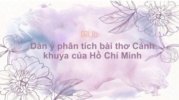 Tổng hợp dàn ý phân tích bài thơ Cảnh khuya của Hồ Chí Minh