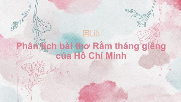 Phân tích bài thơ Rằm tháng giêng của Hồ Chí Minh