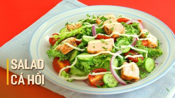 Mách bạn cách làm món salad cá hồi dầu giấm tươi ngon, lạ miệng cho cả gia đình