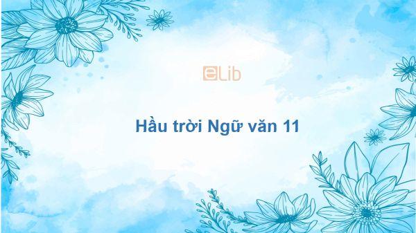 Hầu trời Ngữ văn 11