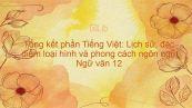Tổng kết phần Tiếng Việt: Lịch sử, đặc điểm loại hình và phong cách ngôn ngữ Ngữ văn 12