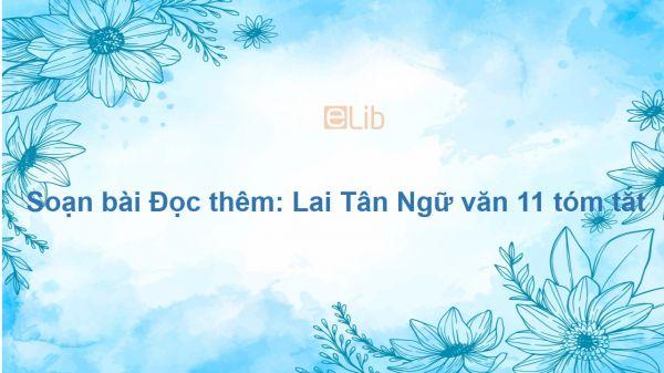 Soạn bài Đọc thêm: Lai Tân Ngữ văn 11 tóm tắt