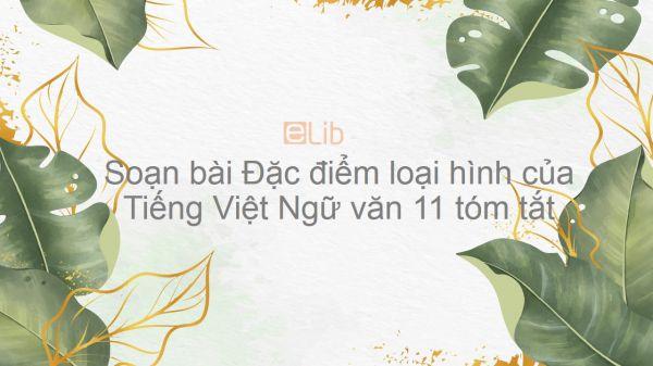 Soạn bài Đặc điểm loại hình của Tiếng Việt Ngữ văn 11 tóm tắt