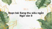 Soạn bài Sang thu Ngữ văn 9 siêu ngắn