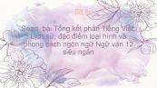 Soạn  bài Tổng kết phần Tiếng Việt: Lịch sử, đặc điểm loại hình và phong cách ngôn ngữ Ngữ văn 12 siêu ngắn
