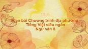 Soạn bài Chương trình địa phương - Tiếng Việt Ngữ văn 8 siêu ngắn