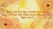 Soạn bài Ôn tập và kiểm tra phần Tiếng Việt (tiếp theo) Ngữ văn 8 đầy đủ