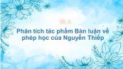 Phân tích tác phẩm Bàn luận về phép học của Nguyễn Thiếp