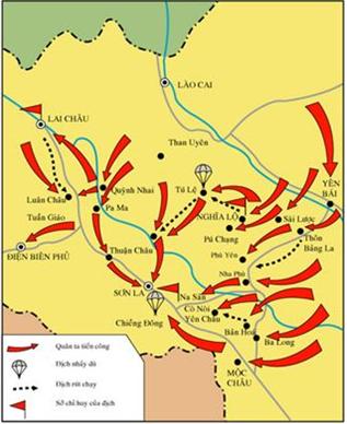 Hình 4: Lược đồ chiến dịch Tây bắc