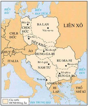 Hình 2: Các nước Đông Âu
