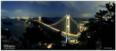 Hình 1: Cầu Seto Ohashi nối hai đảo Hôn-xiu và Xi-cô-cư