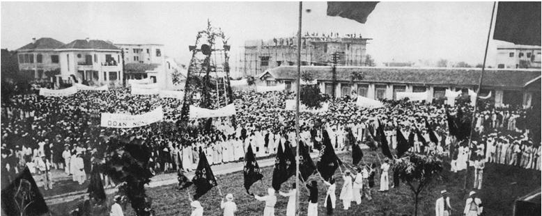 Hình 1: Mít tinh tại Khu Đấu Xảo nhân ngày Quốc tế Lao động (1/5/1938)