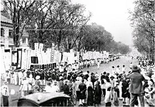 Hình 5: Lễ truy điệu Phan Châu Trinh (1926)
