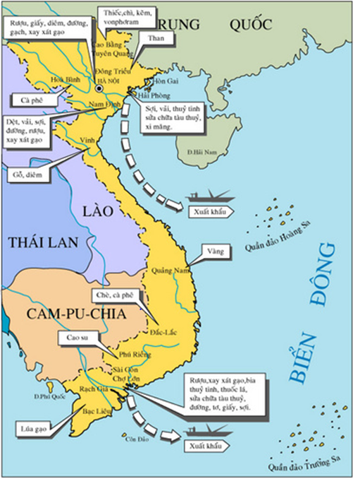 Hình 1: Nguồn lợi của Thực dân Pháp ở Việt Nam