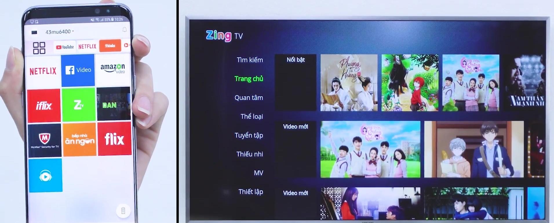 Điều khiển Tivi Samsung bằng ứng dụng Smart View