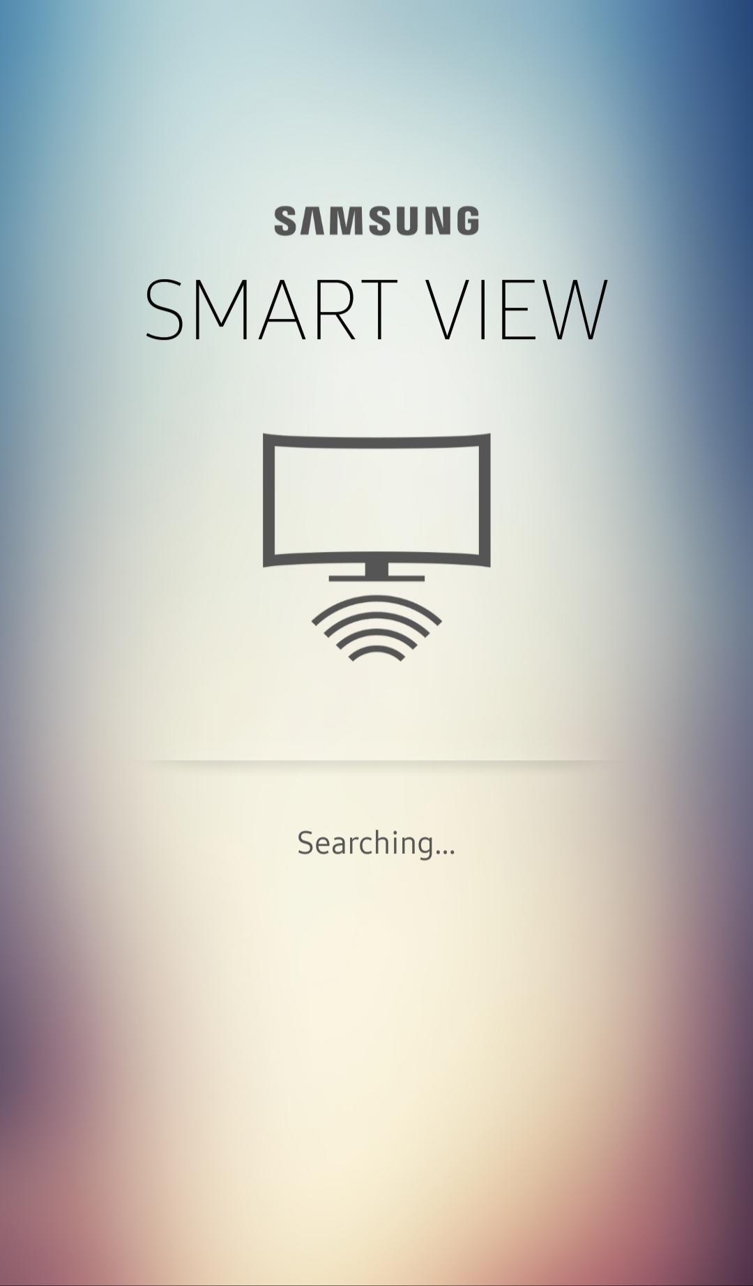 Ứng dụng Smart View tự động tìm kiếm Tivi để kết nối