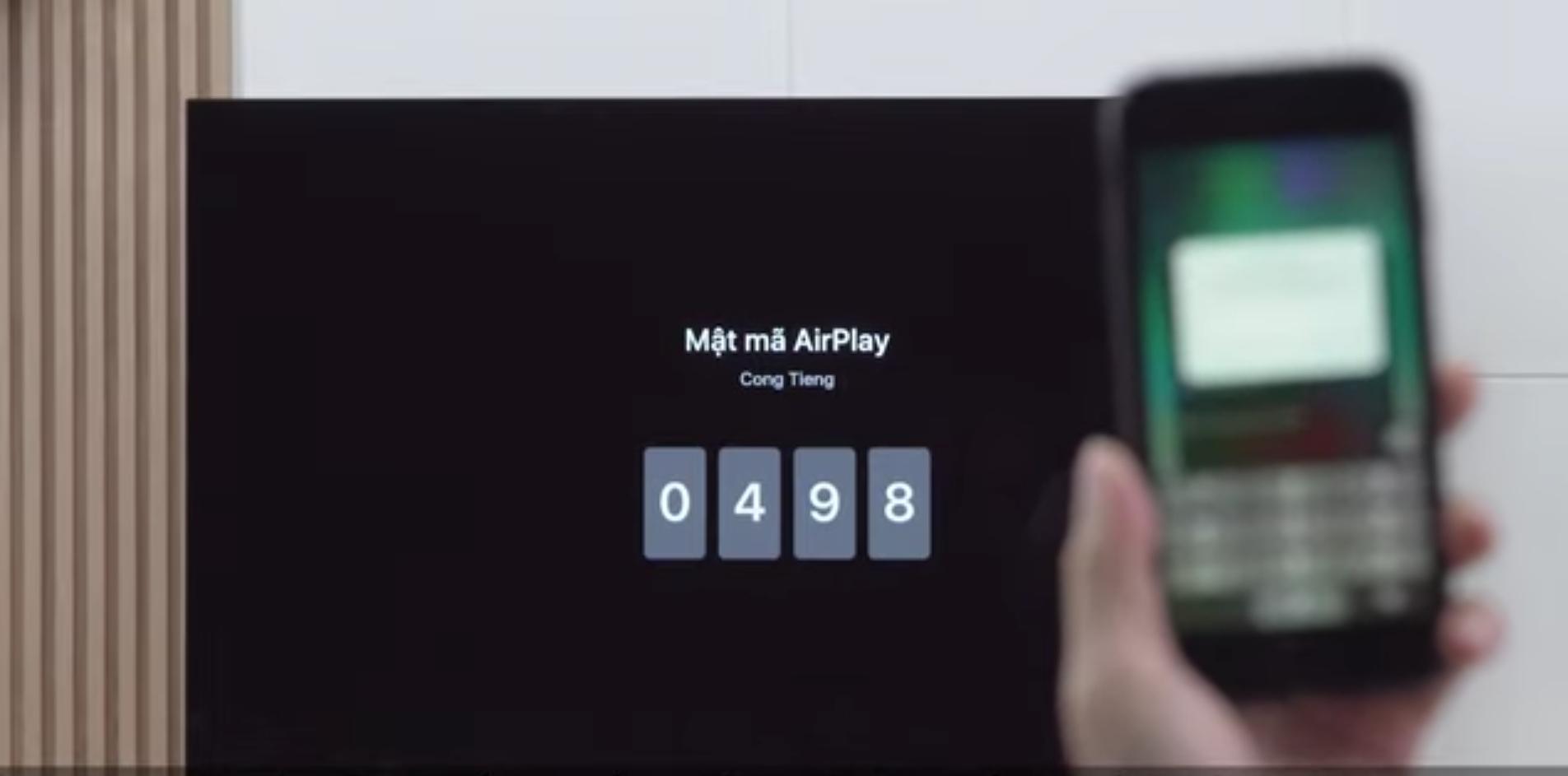Nhập mã PIN hiện trên màn hình Tivi vào điện thoại để kết nối