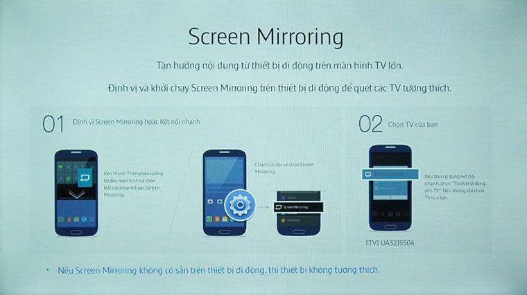 Tivi đang ở chế độ chờ ghép nối Screen Mirroring