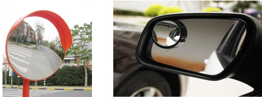 Gương chiếu hậu xe ô tô và xe máy