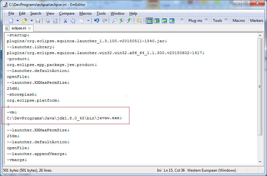 Thêm đoạn code như trong hình vào file