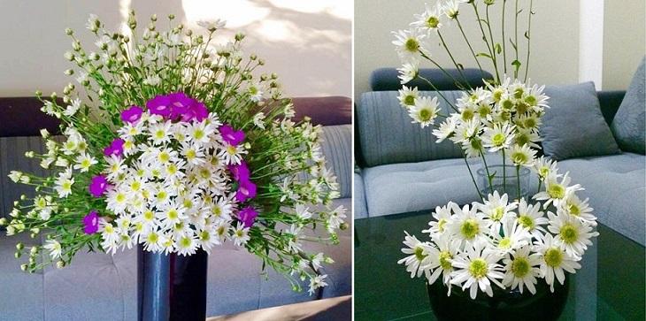 Mẫu cắm hoa cúc