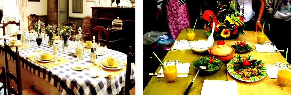 Một số cách bày bàn ăn