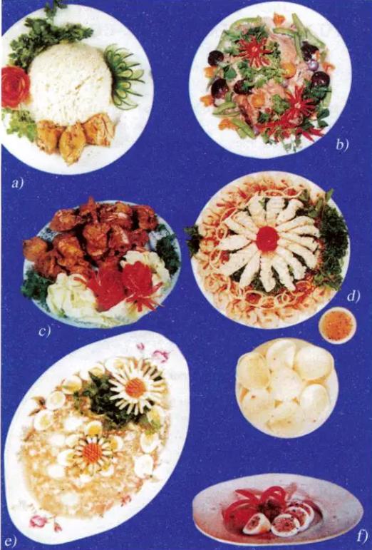 Một số món ăn trong bữa tiệc liên hoan