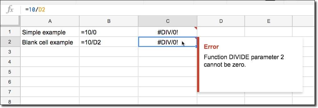 Lỗi #DIV/0!