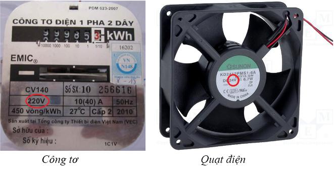 Hiệu điện thế giữa 2 đầu dụng cụ dùng điện