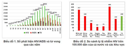 Tình hình số người nhiễm HIV ở Việt Nam