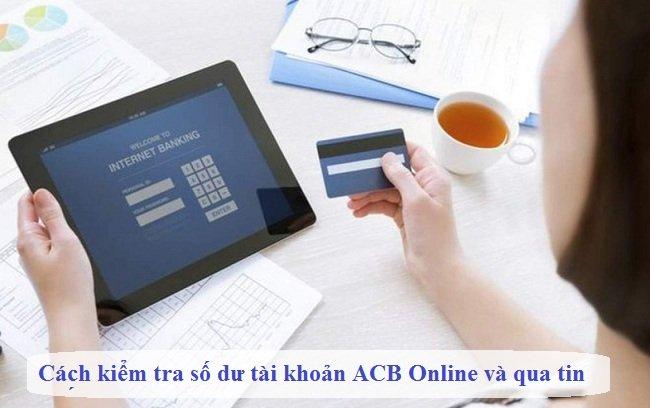 Kiểm tra số dư tài khoản ACB thông qua dịch vụ di động