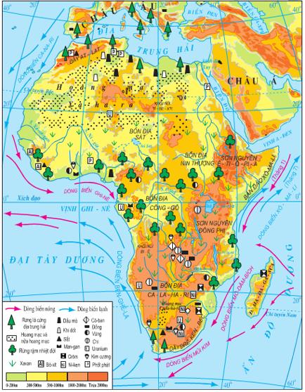 Lược đồ tự nhiên châu Phi