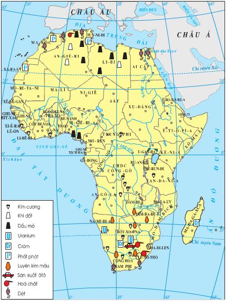 Lược đồ công nghiệp châu Phi