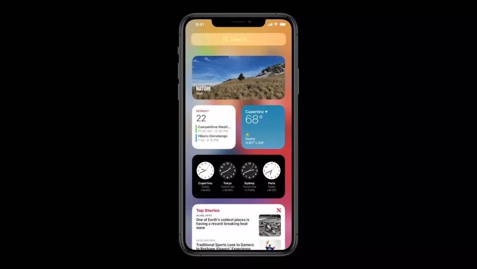 Các widget trong iOS 14