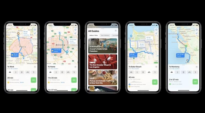 Ứng dụng Apple Maps mới