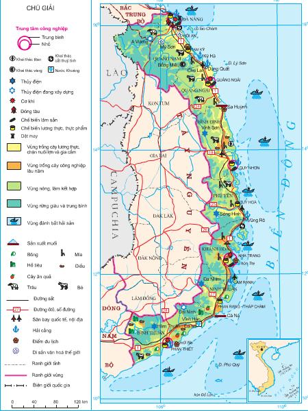 Hình 36. Khai thác các thế mạnh chủ yếu của Duyên hải Nam Trung Bộ