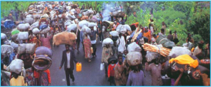 Dòng người tị nạn chiến tranh ở Ru-an-đa (năm 1994)