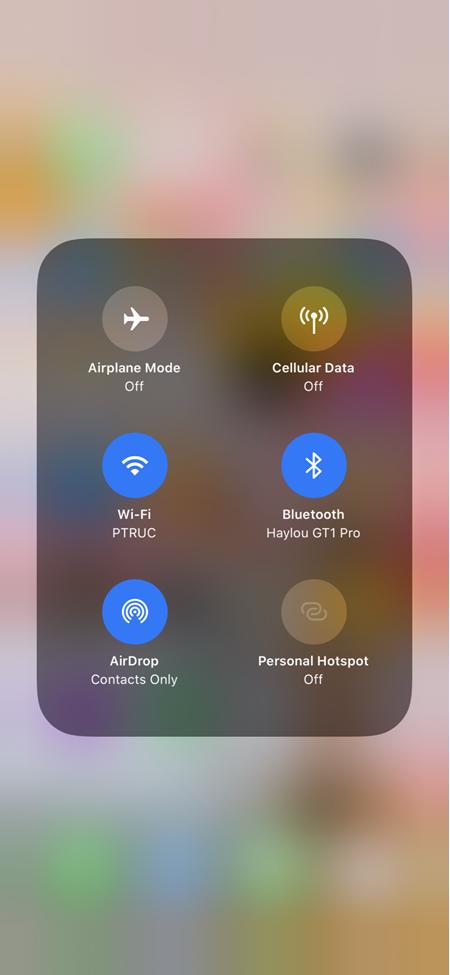 Chọn nhanh điểm kết nối Wi-Fi và Bluetooth