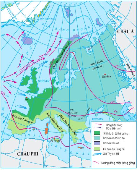 Lược đồ khí hậu châu Âu