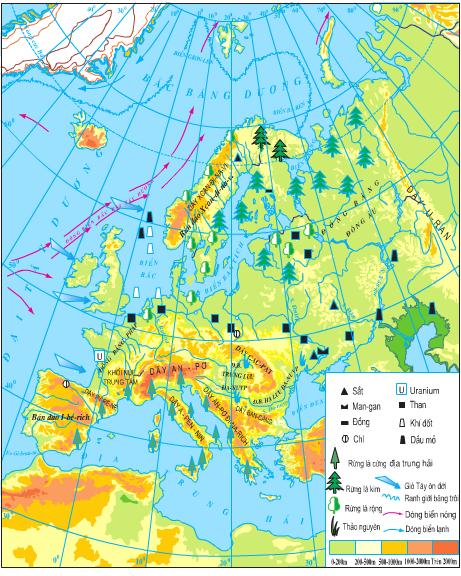 Lược đồ tự nhiên châu Âu