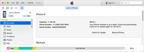 Restore thiết bị iOS 10