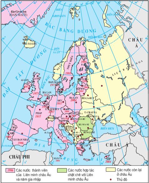 Quá trình mở rộng liên minh châu Âu đến năm 2004