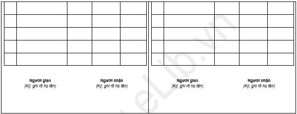 Mẫu Phiếu giao nhận phôi sổ BHXH, thẻ BHYT (Mẫu C08-TS)