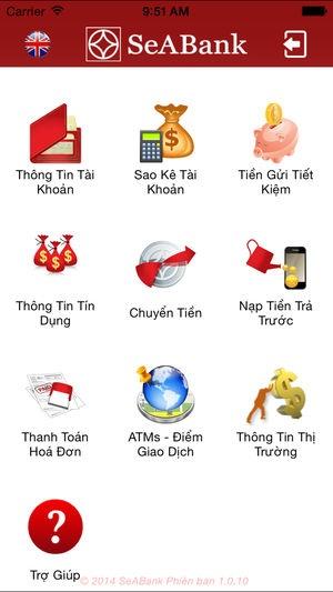 Ứng dụng Mobile Banking SeABank
